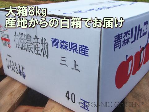 有機りんごギフト箱8kg